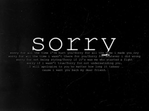 Am Sorry For All My Mistakes