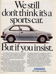 Funny Honda Civic Quotes Vintage 1970's honda civic