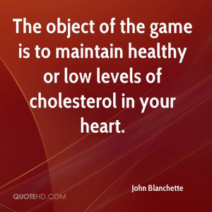 The object of the game is to maintain healthy or low levels of ...