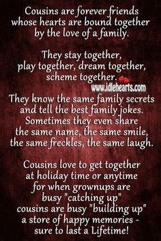 ... more families quotes cousins quotes cousins sisters quotes cousins 3