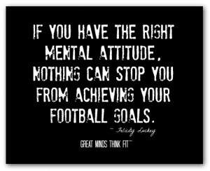 Mental Strength Quotes And Sayings Football poster with quote #