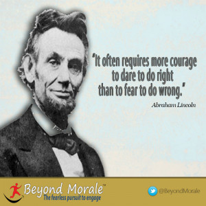 Image – Abraham Lincoln courage to do right quote
