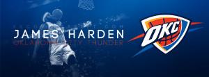 James Harden Oklahoma City Thunder Logo Wallpaper