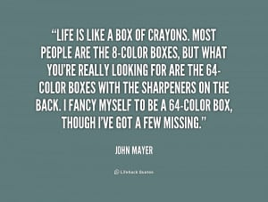 Funny John Mayer Quote...