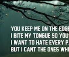 Biting My Tongue Quotes
