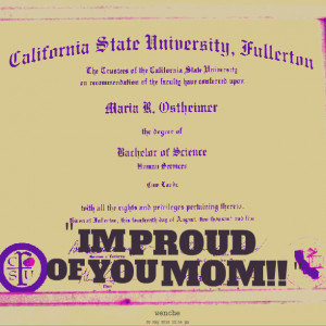 Quotes Picture: im proud of you mom!!
