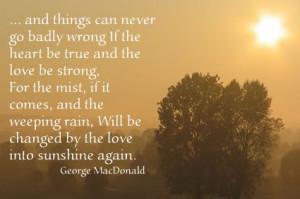 George MacDonald quote: