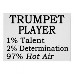 Trumpet Player Hot Air Posters