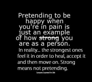 pain. Pain from a broken heart, loss, betrayal and disappointment ...