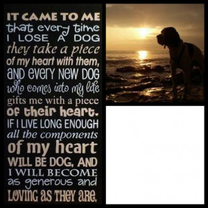 Pet Memorial Poem personalized with your Dog's picture decoupaged on ...