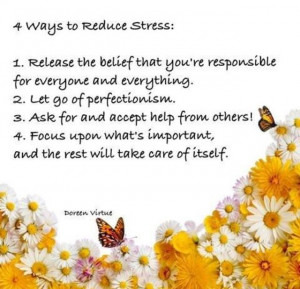 Wats to reduce stress...