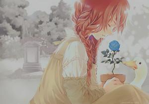 animal, anime, anime girl, beautiful, cute, flower, girl, goose ...