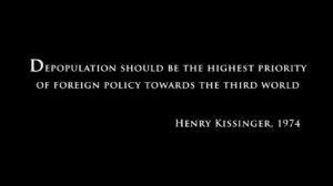 kissinger quote depopulation