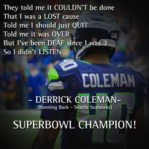 Derrick Coleman Photo - Life Is On