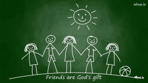friends are god's gift quotes wallpaper,Happy Friendship day ...