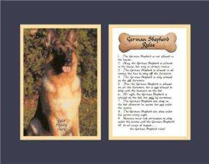 Humor Saying Poem Funny Dog Rules Calligraphy Collectibles Animals ...