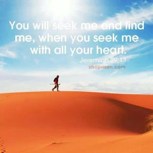 Seek first ye the kingdom of God.
