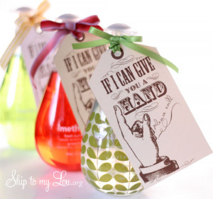 """Printable """"If I Can Give You A Hand"""" Gift Tag"""