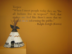 At the local Indian Pueblo Cultural Center, I came upon this quote...