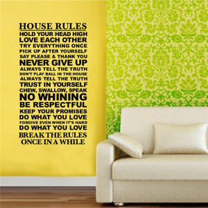 Wall-Decals-Quotes-And-Saying-House-Rules-Wall-Stickers-Sentences-3D ...
