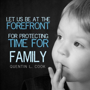 Protect family time...stop the glorification of busy. The act of ...