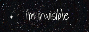 am invisible Facebook Covers
