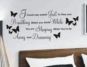 Aerosmith Breathing wall sticker quote, decal music words quote lyrics ...