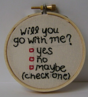 will you go out with me quotes