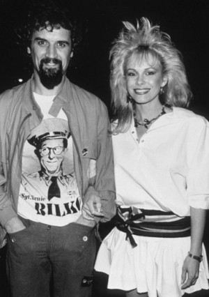 Billy Connolly with wife Pamela Stephenson in 1982 outside Langans ...