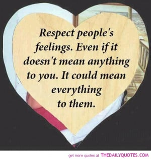 Respect People s Feelings