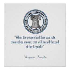 Benjamin Franklin Quote (Money) Posters