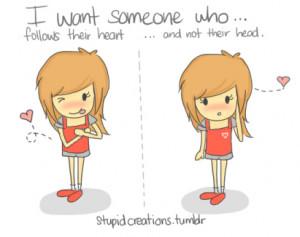 cartoon, cute, girl, heart, love, typography