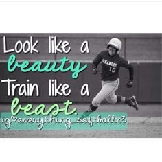inspirational quote for my softball players out there // ☺️ More