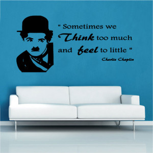 charly chapling quote vinyl wall art celebrities famous quotes vinyl ...