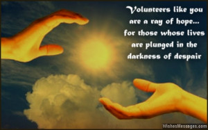 Volunteer Appreciation Quotes Inspirational quote