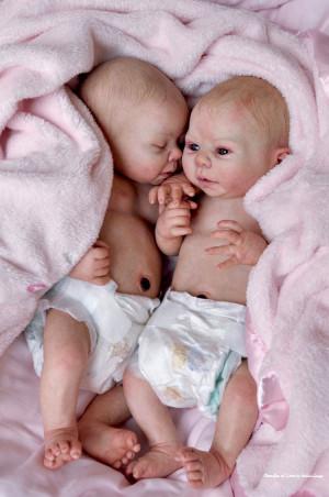 Black Reborn Baby Dolls Twins