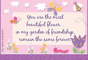 Friends are like flowers; beautiful