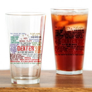 Best Dexter Quotes Drinking Glass