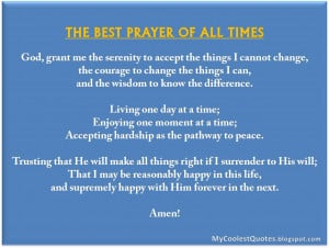 The Best Prayer Of All Times…