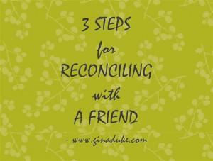 God Can Reconcile Friends – Praise Him!