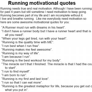Motivational running : inspiring yourself with running quotes