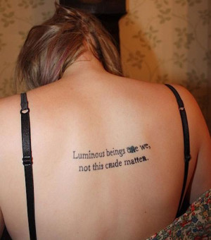 Tattoo quote from Star Wars