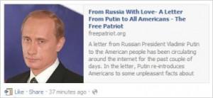 Dear Internet: Putin 'Letter to All Americans' Wasn't Written by Putin