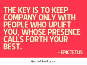 Quotes Epictetus ~ Epictetus poster quotes - The key is to keep ...