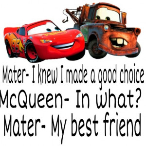 : Quotes D, Quotes 3, Disney Sayings Quotes, Tow Mater Quotes, Disney ...