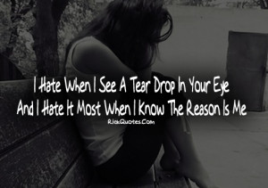 Cry Quotes | Tear Drop In Your Eye Cry Quotes | Tear Drop In Your Eye