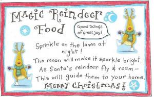 Christmas Eve crafts: Reindeer food recipe and poem