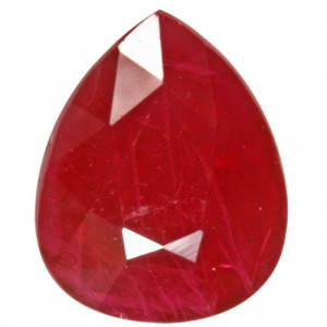 View Product Details: 3.03 carats pear shape ruby gemstone..