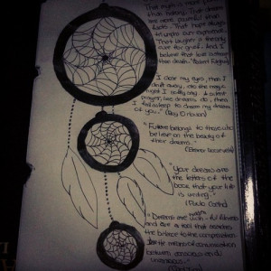 Dream Catcher Drawings with Quotes