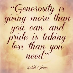 Quotes About Giving And Generosity